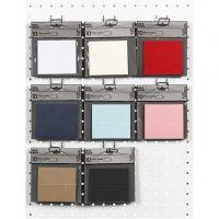 Plaatskaarten, afm 9x4 cm, 220 gr, diverse kleuren, 8x10 doos/ 1 doos