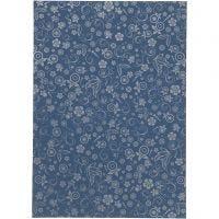Papier, A4, 210x297 mm, 80 gr, blauw, 20 vel/ 1 doos