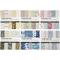 Design papierblok, 15,2x15,2 cm, 120 gr, diverse kleuren, 300 vel/ 1 doos
