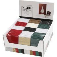 Kaarten en enveloppen, afmeting kaart 10,5x15 cm, afmeting envelop 11,5x16,5 cm, 12x10 doos/ 1 doos