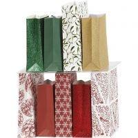 Papieren zakken, H: 21 cm, afm 6x12 cm, 80 gr, 9x10 doos/ 1 doos
