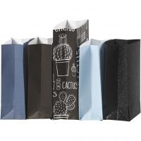 Papieren zakken, H: 21 cm, afm 6x9 cm, 80 gr, 5x10 doos/ 1 doos