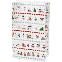 Papieren zakken, polar fun, H: 21 cm, afm 6x12 cm, 8 stuk/ 1 doos