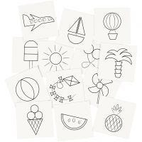 Memory kaarten, afm 7x7 cm, 400 gr, wit, 1 set