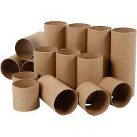 Rollen van karton, L: 4,7+9,3+14 cm, 60 stuk/ 1 doos
