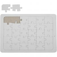 Puzzel, afm 21x30 cm, wit, 1 stuk