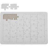 Puzzel, wit, 10 stuk/ 1 doos