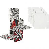 Puzzel constructie karton, afm 9,3x9,3 cm, wit, 20 stuk/ 1 doos