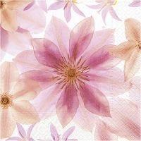 Servetten, gedroogde bloemen, afm 33x33 cm, 20 stuk/ 1 doos