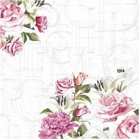 Servetten, rozen, afm 33x33 cm, 20 stuk/ 1 doos