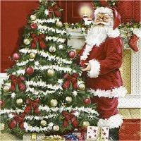Servetten, nostalgische Kerst, afm 33x33 cm, 20 stuk/ 1 doos