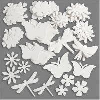 Uitgestanste vormen, afm 4,5-12 cm, 240 gr, wit, 362 stuk/ 1 doos