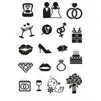 Silicone stempels, huwelijk, 11x15,5 cm, 1 vel