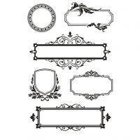 Silicone stempels, lijsten met ornamenten, 11x15,5 cm, 1 vel