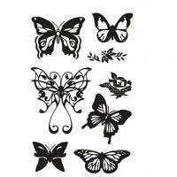 Silicone stempels, vlinders, 11x15,5 cm, 1 vel