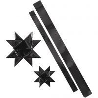 Sterstroken, L: 86+100 cm, B: 25+40 mm, d: 11,5+18,5 cm, zwart, 16 stroken/ 1 doos