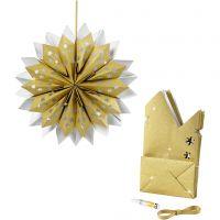 Ster van papieren zakken, 170 gr, goud, 1 set