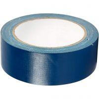 Canvas tape, B: 38 mm, blauw, 25 m/ 1 rol