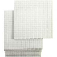 3D foam pads, afm 5x5 mm, dikte 3 mm, 10x400 stuk/ 1 doos