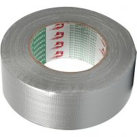 Canvas tape, B: 50 mm, zilver, 50 m/ 1 rol
