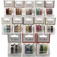 Masking tape, B: 15 mm, diverse kleuren, 12 doos/ 1 doos