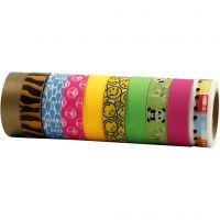Masking Tape, B: 15 mm, 10x10 m/ 1 doos