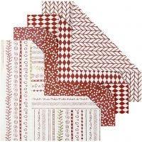 Origamipapier, afm 15x15 cm, 80 gr, rood, 40 vel/ 1 doos