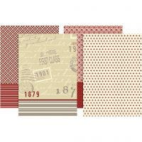 Decoupage papier, 25x35 cm, 17 gr, 8 div vellen/ 1 doos
