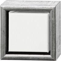 ArtistLine Canvas met lijst, diepte 3 cm, afm 14x14 cm, antiek zilver, wit, 1 stuk