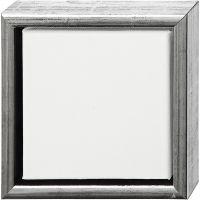 ArtistLine Canvas met lijst, diepte 3 cm, afm 19x19 cm, antiek zilver, wit, 1 stuk