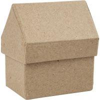 Huizen, H: 10,5 cm, afm 6x8,5 cm, 4 stuk/ 1 doos