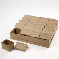 Huizen, H: 10,5 cm, afm 6x8,5 cm, 20 stuk/ 1 doos