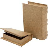 Boeken, afm 8x11,5x2,5 cm, 2 stuk/ 1 set