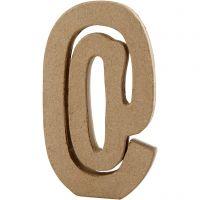 Teken, @, H: 19,9 cm, B: 11,5 cm, dikte 2,6 cm, 1 stuk
