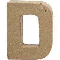Letter, D, H: 10 cm, B: 7,7 cm, dikte 1,7 cm, 1 stuk