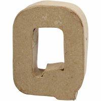 Letter, Q, H: 10 cm, B: 7,8 cm, dikte 1,7 cm, 1 stuk