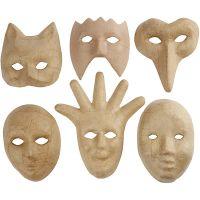 Maskers, H: 12-21 cm, 6 stuk/ 1 doos