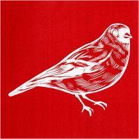 Screen stencil, vogel, 20x22 cm, 1 vel