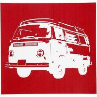 Screen stencil, VW bus, 20x22 cm, 1 vel