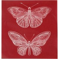 Screen stencil, vlinder, 20x22 cm, 1 vel