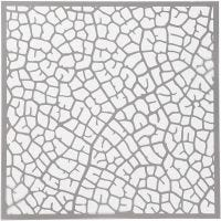 Sjabloon, blad, afm 30,5x30,5 cm, dikte 0,31 mm, 1 vel