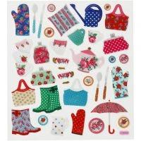 Stickers, tuinleven, 15x16,5 cm, 1 vel