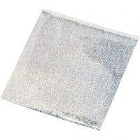 Lijmfolie, 10x10 cm, zilver, 30 vel/ 1 doos