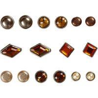 Deco brads, afm 8-18 mm, bruin, 16 stuk/ 1 doos