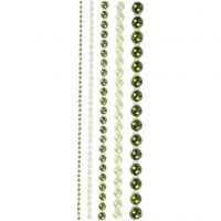 Halve plakparels, afm 2-8 mm, groen, 140 stuk/ 1 doos