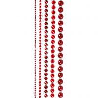Halve plakparels, afm 2-8 mm, rood, 140 stuk/ 1 doos