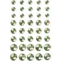 Strasstenen, afm 6+8+10 mm, groen, 40 stuk/ 1 doos