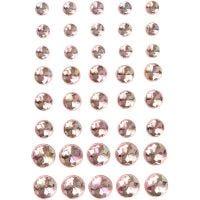 Strasstenen, afm 6+8+10 mm, roze, 40 stuk/ 1 doos