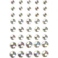 Strasstenen, afm 6+8+10 mm, kristal, 40 stuk/ 1 doos
