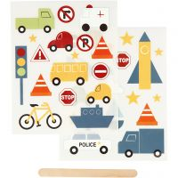 Rub-on Sticker , transport, 12,2x15,3 cm, 1 doos